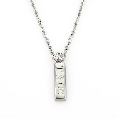 cab8d771d50 Tiffany   Co. Logo Diamond 18k White Gold Long Pendant   Chain Necklace