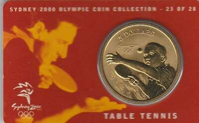 Coincard Australia Sydney 2000 Olympic 5 dollars - Table Tennis (23)