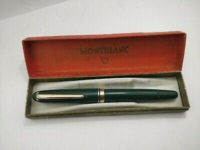 Vintage Montblanc 254 EF Nib Green Fountain Pen