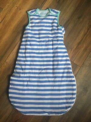 The Gro Company Grobag Baby Sleeping Bag Blue& White (2.5 Tog, 0-6 Months)