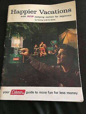 COLEMAN Happier Vacations Camping Guide Flyer / Equipment Brochure from 1964