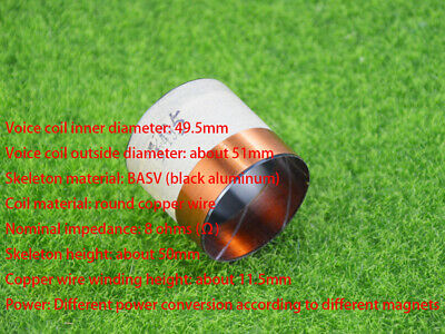 49.5mm KSV Bass Voice Coil High Temperature Resistance Inside and Outside Wire