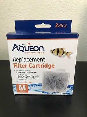 Aqueon Replacement Filter Cartridge Medium 3 Pack *BNIB*