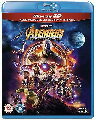 Avengers INFINITY WAR 3D + 2D Blu-Ray New Region Free No Slip Cover.