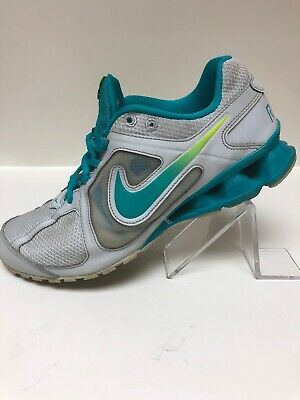 competitive price 52524 88d71 NIKE SHOX TURBO Reax Run Teal Blue 599562-011 Womens 8.5 Sneakers