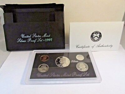 United States Mint Silver 4 Proof Sets Box and COA '94s,'97s,'97s,'98s  #C123