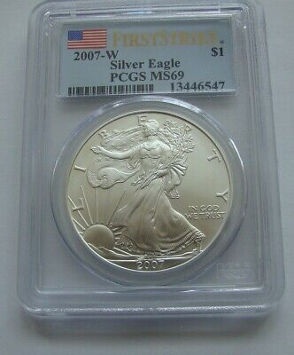 2007-W American Silver Eagle PCGS MS69 First Strike