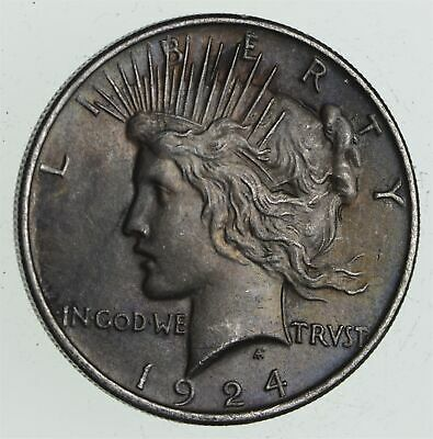 Early - 1924 - Peace Silver Dollar - 90% US Coin *686
