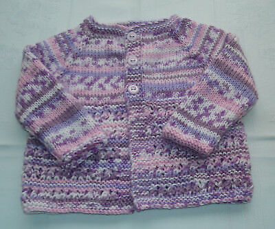 Hand Knitted Jacket for Baby, approx 4-6 months