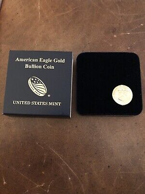 2018 1/10 oz Gold American Eagle $5 GEM BU Coin