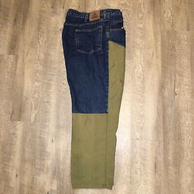 RedHead Bass Pro Hunting Denim Duck Canvas Briar Brush Chaps Pants Men 42Wx30L