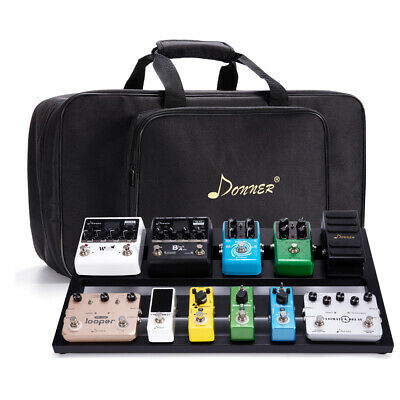 Donner DB-3 Guitar Pedal Board Kit For Guitar Effect Pedals with Soft Case Bag