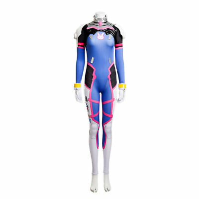 Overwatch OW Game D. Va DVA Jumpsuit Outfits Cosplay Costume Halloween