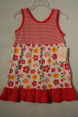 1248ffafc619 NEW Toddler Girls Summer Sleeveless Dress 3T Party Outfit Striped Floral  Spring