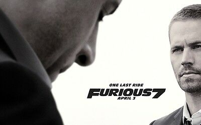 Affiches Fast And Furious Paul Walker Vin Diesel 2 3 4 5 6 7 Cinéma Affiche #1