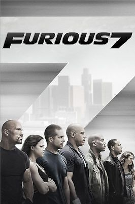 Affiches Fast And Furious Paul Walker Vin Diesel 2 3 4 5 6 7 Cinéma Affiche #5