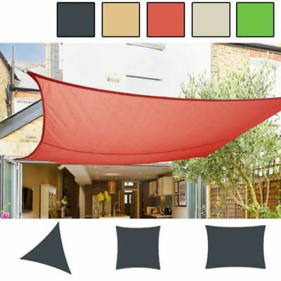 Extra Shade Sail Sun Awning Canopy Outdoor Garden Pool Triangle Square Rectangle
