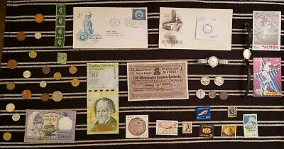Junk Drawer Lot: Old U.S. Coins 1879+, Scrap Silver, Watches, Currency ++