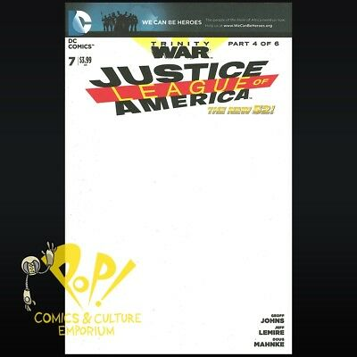 Justice League of America #7 BLANK VARIANT Trinity War New 52 1ST PRINT NM R295
