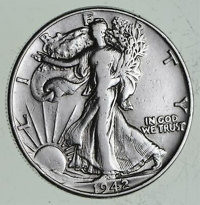 Strong Feather Details - 1942 Walking Liberty Half Dollars - Huge Value *540