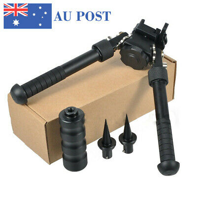 "4.75""-9"" Tactical Picatinny Rail Mount Foldable Bipod Mount Spike Black Set"