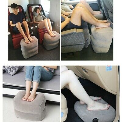 Inflatable Office Travel Footrest Leg Foot Rest Cushion Pillow Pad Kids Bed US