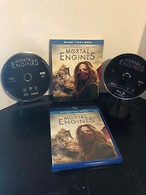 MORTAL ENGINES BLU RAY And Dvd