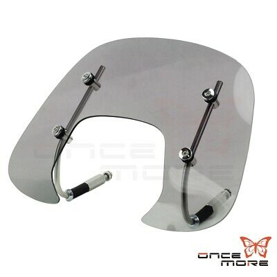 Motorcycle Scooter Smoked Wind Screen Windshield Fly Screen For Vaspa Spring150