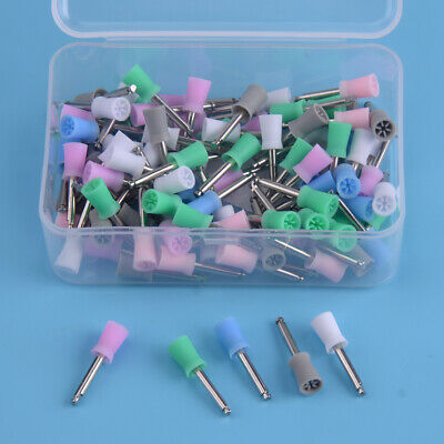 100pcs Dental Rubber Latch Polishing Polisher Prophy Cup Fit For Angle Handpiece