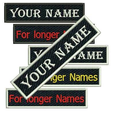 CUSTOM* Personalised Name Embroidery Sew on Patch Embroidered Numbers Tag