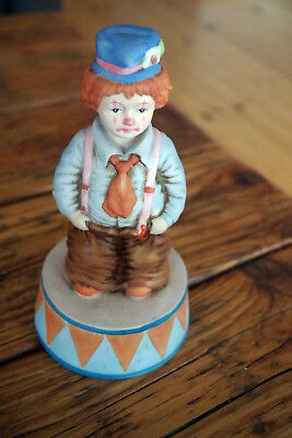 ENESCO  1986 Spieluhr  Porzelan  Clown