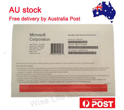 Microsoft Windows 10 Home 64-Bit OEM DVD With Product Key Full Version For 1 PC