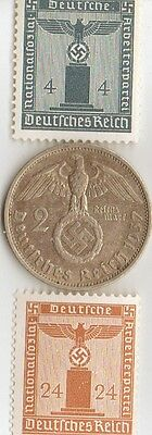 -  *german  stamps  and  coins   from  WW2 +..