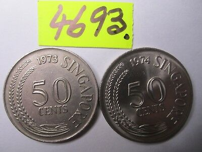 2 x  coins from  Singapore    10   gms      Mar4693