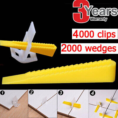 Tile Leveling System Locator Clips With Wedges Floor Wall Plastic Spacers Kit