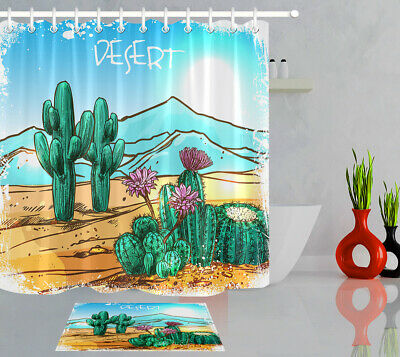 72x72/'/' Bathroom Waterproof Mildew Shower Curtain Desert Cactus And Flower 10557