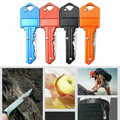 Outdoor Key Shaped Folding Pocket Knife Cutter Stainless Steel Blade Keychain