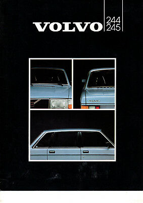 Depliant brochure catalogue VOLVO 244 245