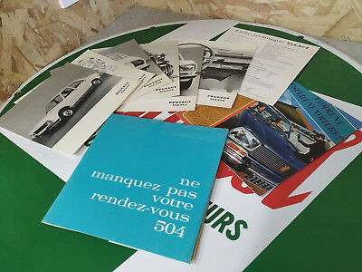 Brochure publicitaire PEUGEOT 504 voiture collection