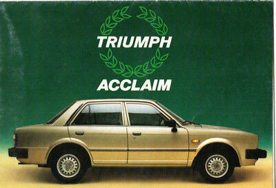 Depliant brochure catalogue TRIUMPH ACCLAIM