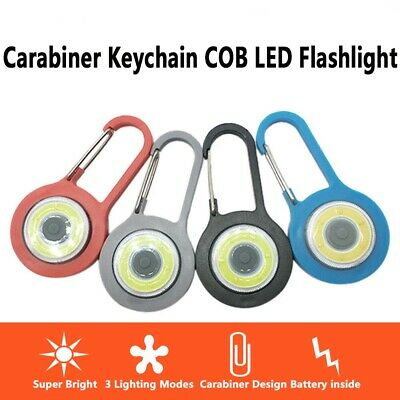 Waterproof portable COB LED Light Mini Keychain with Climbing Hook Lamp Outdoor