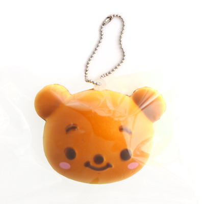 DISNEY Tsum Tsum Winnie the Pooh Bear Bun Cute RARE Kawaii Squishy Toy Keychain