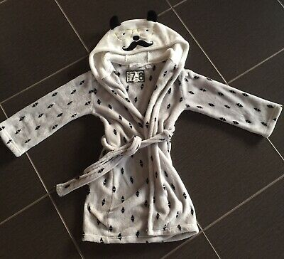 Cute 'Cotton On' children's kids gender neutral dressing gown with hood