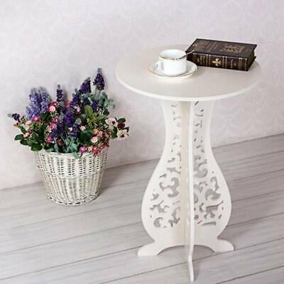 White Round Coffee Tea Side End Table Coffee Tables Racks Stand Modern Furniture