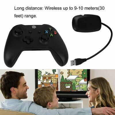 New Black 2.4GHz Wireless Game Controller Joypad for Xbox One Microsoft PC MT