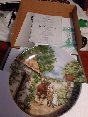 Wedgewood plate made in england the homecoming
