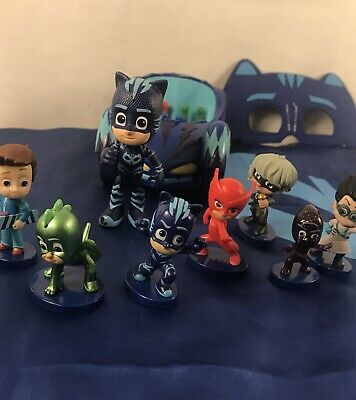 PJ Masks Catboy Deluxe Car CAPE & MASK Superhero Costume With 7x Cake Toppers