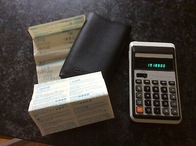 calculatrice vintage Casio memory - 10F Electronic Calculator 1975