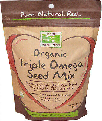 Now Foods, Real Food, Organic Triple Omega Seed Mix, 12 oz (340 g)