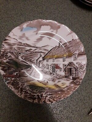 W H Grindley 9 inch plate Quiet Day. Good Condition.